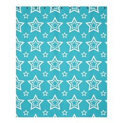 Star Blue White Line Space Sky Shower Curtain 60  X 72  (medium)  by Alisyart