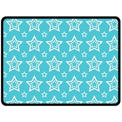 Star Blue White Line Space Sky Double Sided Fleece Blanket (large)  by Alisyart
