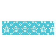 Star Blue White Line Space Sky Satin Scarf (oblong) by Alisyart