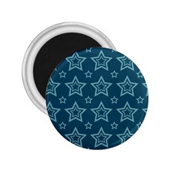 Star Blue White Line Space 2 25  Magnets by Alisyart