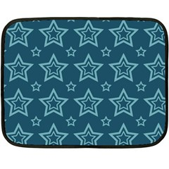 Star Blue White Line Space Fleece Blanket (mini) by Alisyart