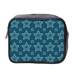 Star Blue White Line Space Mini Toiletries Bag 2 Side by Alisyart