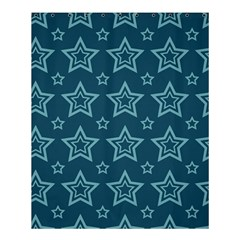 Star Blue White Line Space Shower Curtain 60  X 72  (medium)  by Alisyart