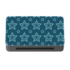 Star Blue White Line Space Memory Card Reader With Cf by Alisyart