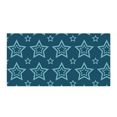 Star Blue White Line Space Satin Wrap by Alisyart