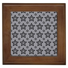 Star Grey Black Line Space Framed Tiles