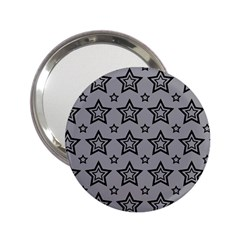 Star Grey Black Line Space 2 25  Handbag Mirrors by Alisyart