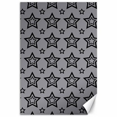 Star Grey Black Line Space Canvas 12  X 18   by Alisyart