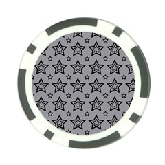 Star Grey Black Line Space Poker Chip Card Guard by Alisyart