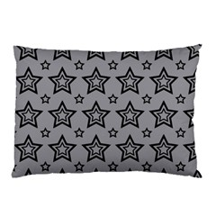 Star Grey Black Line Space Pillow Case by Alisyart
