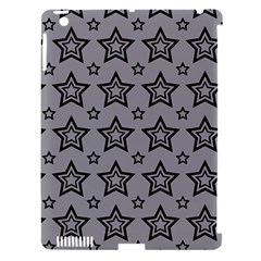 Star Grey Black Line Space Apple Ipad 3/4 Hardshell Case (compatible With Smart Cover) by Alisyart