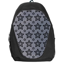 Star Grey Black Line Space Backpack Bag by Alisyart