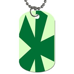 Starburst Shapes Large Circle Green Dog Tag (one Side) by Alisyart