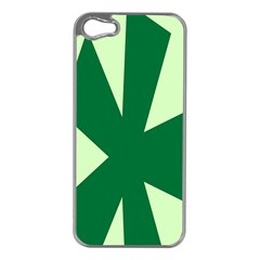 Starburst Shapes Large Circle Green Apple Iphone 5 Case (silver) by Alisyart