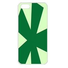 Starburst Shapes Large Circle Green Apple Iphone 5 Seamless Case (white) by Alisyart
