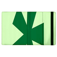 Starburst Shapes Large Circle Green Apple Ipad 2 Flip Case by Alisyart