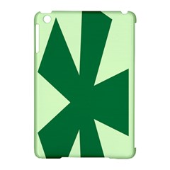 Starburst Shapes Large Circle Green Apple Ipad Mini Hardshell Case (compatible With Smart Cover) by Alisyart