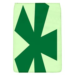 Starburst Shapes Large Circle Green Flap Covers (s)  by Alisyart