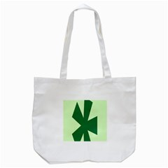 Starburst Shapes Large Circle Green Tote Bag (white) by Alisyart