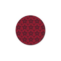 Star Red Black Line Space Golf Ball Marker (4 Pack) by Alisyart