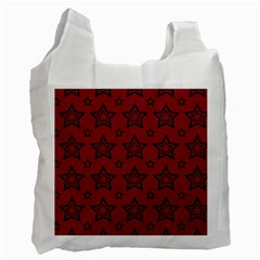 Star Red Black Line Space Recycle Bag (one Side) by Alisyart