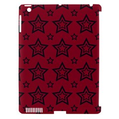 Star Red Black Line Space Apple Ipad 3/4 Hardshell Case (compatible With Smart Cover) by Alisyart