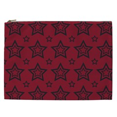 Star Red Black Line Space Cosmetic Bag (xxl)  by Alisyart