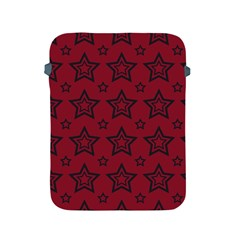 Star Red Black Line Space Apple Ipad 2/3/4 Protective Soft Cases by Alisyart