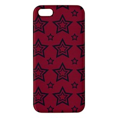 Star Red Black Line Space Iphone 5s/ Se Premium Hardshell Case by Alisyart