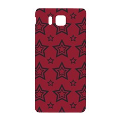 Star Red Black Line Space Samsung Galaxy Alpha Hardshell Back Case by Alisyart