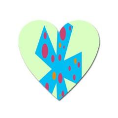 Starburst Shapes Large Circle Green Blue Red Orange Circle Heart Magnet by Alisyart