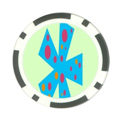 Starburst Shapes Large Circle Green Blue Red Orange Circle Poker Chip Card Guard by Alisyart