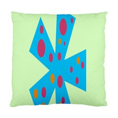 Starburst Shapes Large Circle Green Blue Red Orange Circle Standard Cushion Case (two Sides) by Alisyart