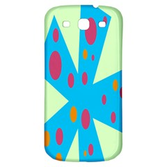 Starburst Shapes Large Circle Green Blue Red Orange Circle Samsung Galaxy S3 S Iii Classic Hardshell Back Case by Alisyart
