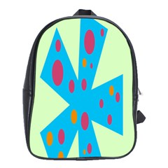 Starburst Shapes Large Circle Green Blue Red Orange Circle School Bags (xl)  by Alisyart