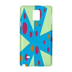 Starburst Shapes Large Circle Green Blue Red Orange Circle Samsung Galaxy Note 4 Hardshell Case by Alisyart
