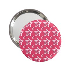 Star Pink White Line Space 2 25  Handbag Mirrors by Alisyart