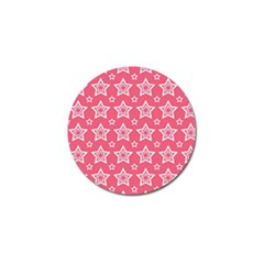 Star Pink White Line Space Golf Ball Marker by Alisyart