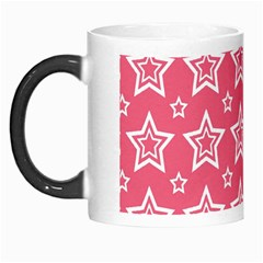 Star Pink White Line Space Morph Mugs by Alisyart