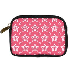 Star Pink White Line Space Digital Camera Cases by Alisyart