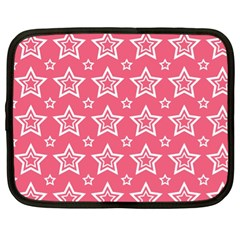 Star Pink White Line Space Netbook Case (xl)  by Alisyart
