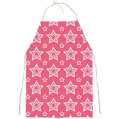 Star Pink White Line Space Full Print Aprons by Alisyart