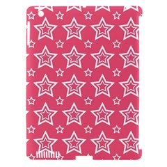 Star Pink White Line Space Apple Ipad 3/4 Hardshell Case (compatible With Smart Cover) by Alisyart