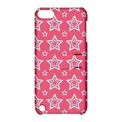 Star Pink White Line Space Apple Ipod Touch 5 Hardshell Case With Stand by Alisyart