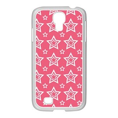 Star Pink White Line Space Samsung Galaxy S4 I9500/ I9505 Case (white) by Alisyart