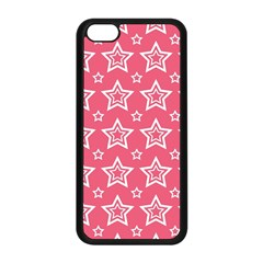 Star Pink White Line Space Apple Iphone 5c Seamless Case (black) by Alisyart
