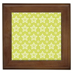 Star Yellow White Line Space Framed Tiles by Alisyart