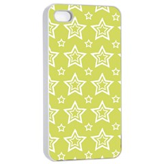 Star Yellow White Line Space Apple Iphone 4/4s Seamless Case (white) by Alisyart