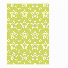 Star Yellow White Line Space Small Garden Flag (two Sides) by Alisyart