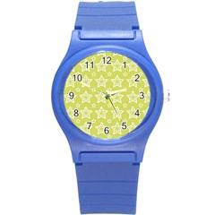 Star Yellow White Line Space Round Plastic Sport Watch (s) by Alisyart